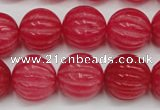 CCN677 15.5 inches 16mm carved round candy jade beads wholesale
