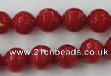CCN773 15.5 inches 6mm faceted round candy jade beads wholesale