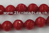 CCN824 15.5 inches 12mm faceted round candy jade beads wholesale