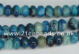 CCO170 15.5 inches 5*8mm rondelle dyed natural chrysotine beads