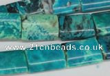 CCO198 15.5 inches 13*18mm flat tube dyed natural chrysotine beads