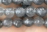 CCQ581 15.5 inches 6mm faceted round cloudy quartz beads wholesale