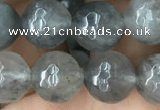 CCQ583 15.5 inches 10mm faceted round cloudy quartz beads wholesale