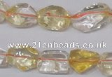 CCR100 15.5 inches 8-15mm natural citrine gemstone nugget beads