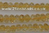 CCR173 15.5 inches 4*6mm faceted rondelle natural citrine beads