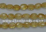 CCR21 15.5 inches 6*7mm faceted oval natural citrine gemstone beads
