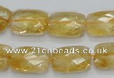 CCR30 15.5 inches 13*18mm faceted rectangle natural citrine beads