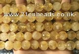 CCR358 15.5 inches 12mm faceted round citrine beads