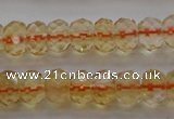 CCR51 15.5 inches 4*6mm faceted rondelle natural citrine beads