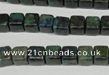 CCS154 15.5 inches 8*8mm cube dyed chrysocolla gemstone beads