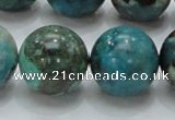 CCS18 15.5 inches 20mm round natural chrysocolla gemstone beads