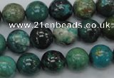 CCS19 15.5 inches 12mm round natural chrysocolla gemstone beads