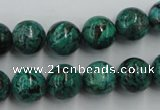 CCS205 15.5 inches 12mm round natural Chinese chrysocolla beads