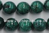 CCS206 15.5 inches 14mm round natural Chinese chrysocolla beads