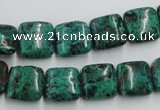 CCS222 15.5 inches 12*12mm square natural Chinese chrysocolla beads