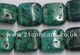 CCS224 15.5 inches 16*16mm square natural Chinese chrysocolla beads