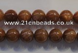 CCS373 15.5 inches 10mm round AA grade natural golden sunstone beads