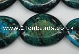 CCS481 15.5 inches 22*30mm freeform dyed chrysocolla gemstone beads