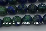 CCS533 15.5 inches 10mm faceted round dyed chrysocolla beads