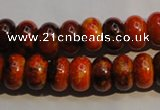 CCS561 15.5 inches 8*12mm rondelle dyed chrysocolla gemstone beads