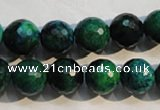 CCS604 15.5 inches 12mm faceted round dyed chrysocolla gemstone beads