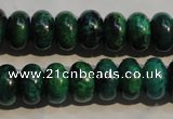 CCS617 15.5 inches 8*12mm rondelle dyed chrysocolla gemstone beads