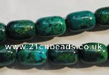 CCS628 15.5 inches 10*14mm drum dyed chrysocolla gemstone beads