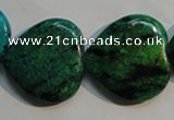 CCS655 15.5 inches 25*25mm heart dyed chrysocolla gemstone beads