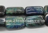 CCS68 16 inches 18*25mm rectangle dyed chrysocolla gemstone beads