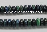 CCS73 15.5 inches 5*8mm rondelle dyed chrysocolla gemstone beads