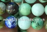 CCS866 15.5 inches 8mm round chrysocolla gemstone beads