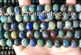 CCS878 15.5 inches 10mm round natural chrysocolla beads wholesale