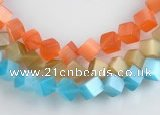 CCT09 8mm different color cube-shaped cats eye beads Wholesale