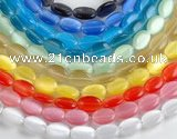 CCT13 10*15mm different color oval cats eye beads Wholesale