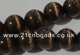 CCT1394 15 inches 7mm round cats eye beads wholesale
