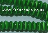 CCT244 15 inches 3*6mm rondelle cats eye beads wholesale