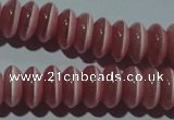 CCT261 15 inches 3*7mm rondelle cats eye beads wholesale