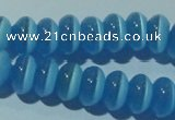 CCT285 15 inches 5*8mm rondelle cats eye beads wholesale