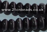 CCT295 15 inches 5*8mm rondelle cats eye beads wholesale
