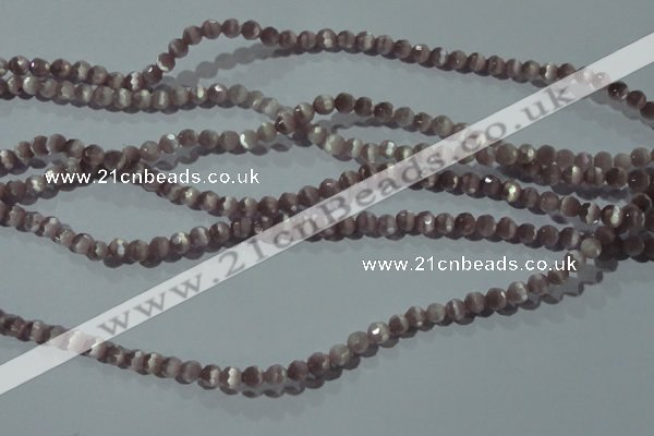 CCT312 15 inches 4mm faceted round cats eye beads wholesale