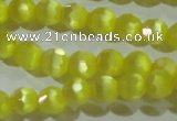 CCT357 15 inches 6mm faceted round cats eye beads wholesale