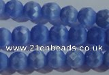 CCT363 15 inches 6mm faceted round cats eye beads wholesale