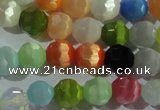 CCT366 15 inches 6mm faceted round cats eye beads wholesale