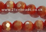 CCT373 15 inches 8mm faceted round cats eye beads wholesale
