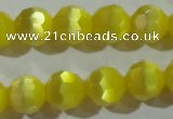 CCT376 15 inches 8mm faceted round cats eye beads wholesale