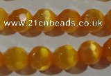 CCT378 15 inches 8mm faceted round cats eye beads wholesale