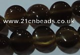 CCT489 15 inches 8mm flat round cats eye beads wholesale