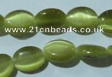 CCT646 15 inches 6*8mm oval cats eye beads wholesale