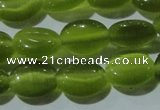 CCT647 15 inches 6*8mm oval cats eye beads wholesale