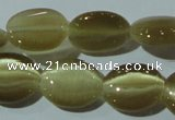 CCT671 15 inches 8*10mm oval cats eye beads wholesale